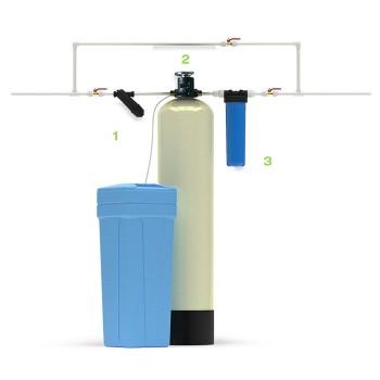 Система умягчения и очистки воды Экотар А с автоматическим клапаном